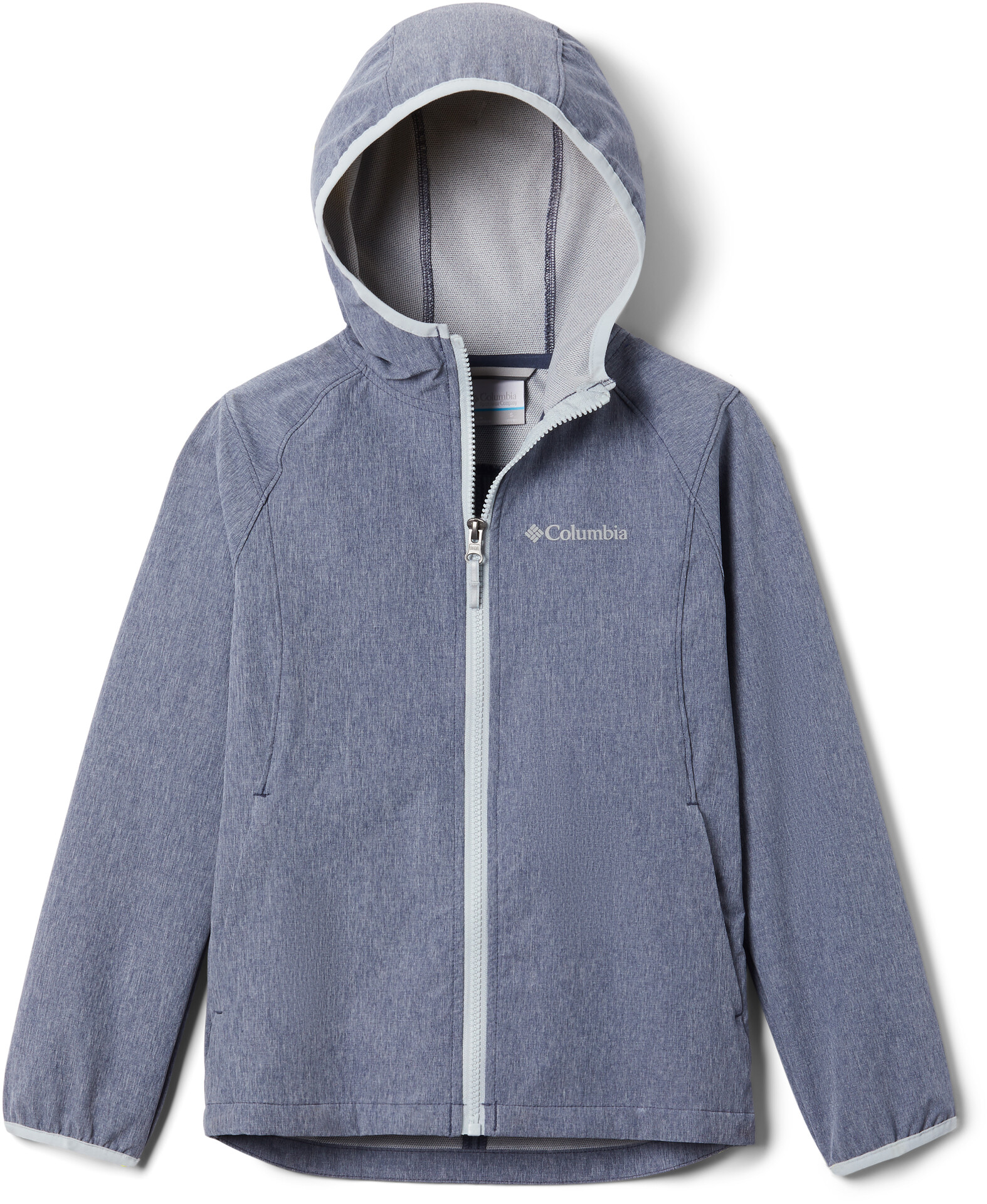 Columbia Rocky Range Softshell Jacke Mädchen nocturnal heathercirrus grey zip and binding